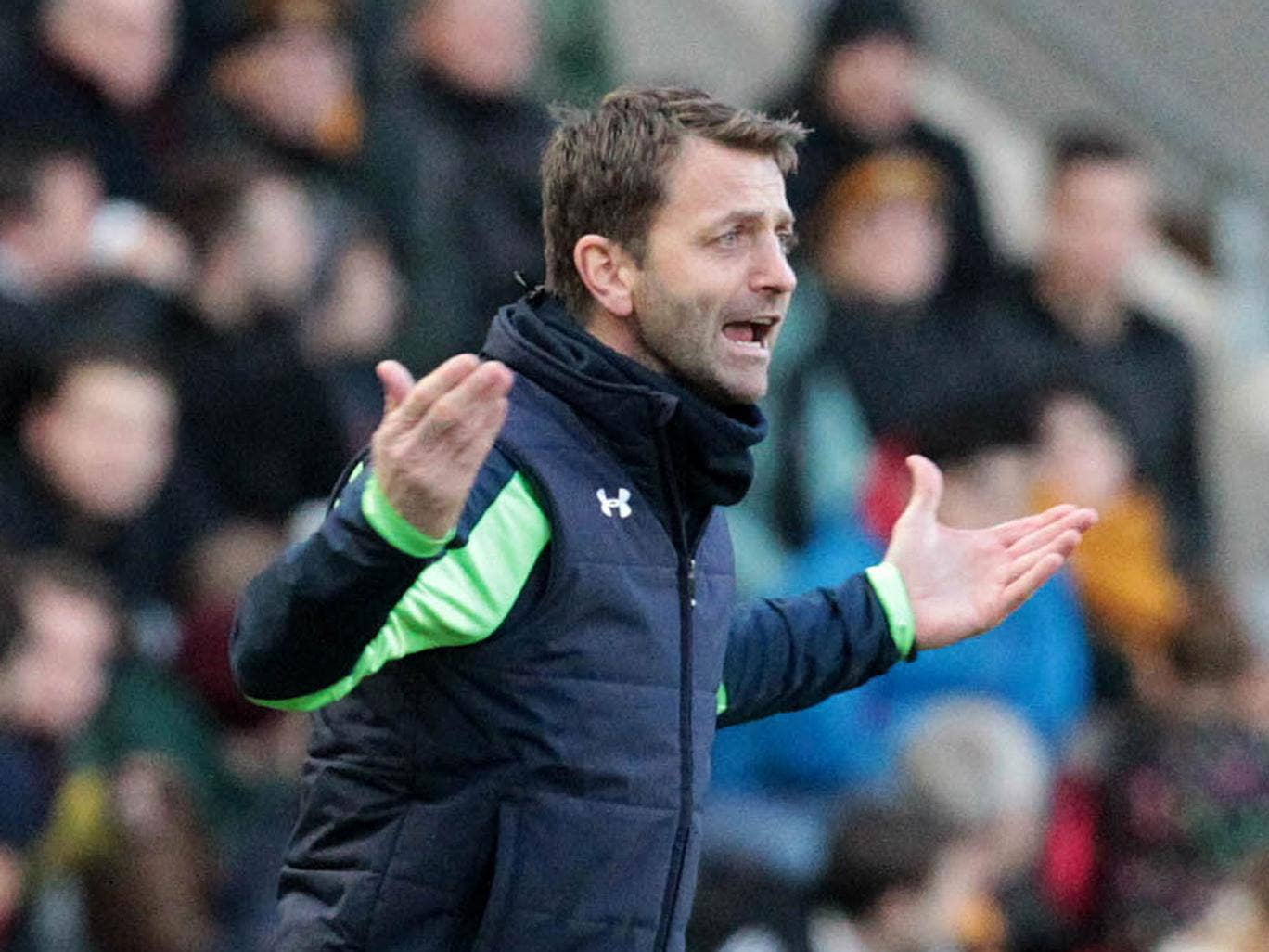 Tottenham manager Tim Sherwood wants his side to begin matches quicker in order to boost their top-four chances