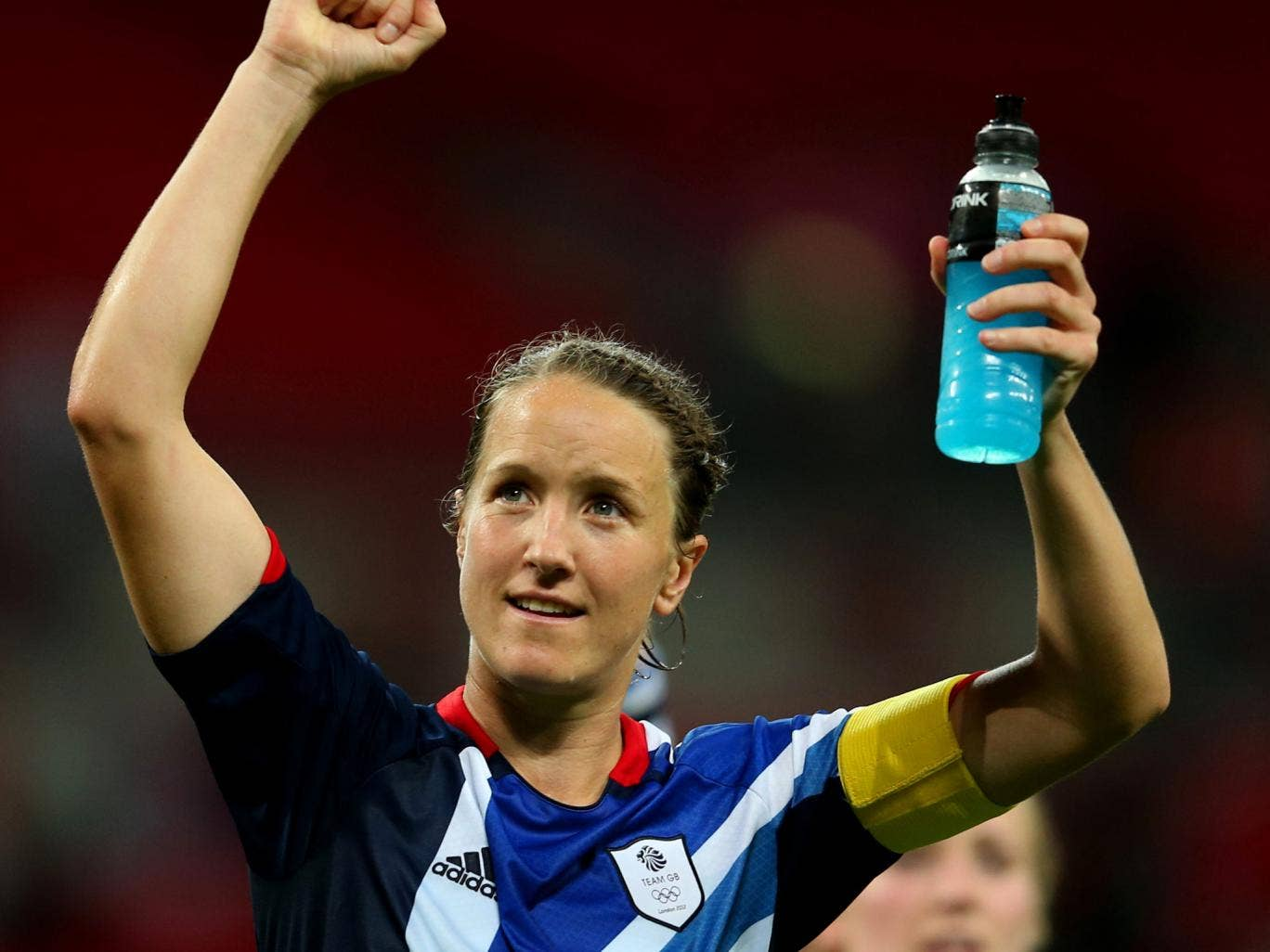 Casey Stoney pictured representing Team GB at London 2012