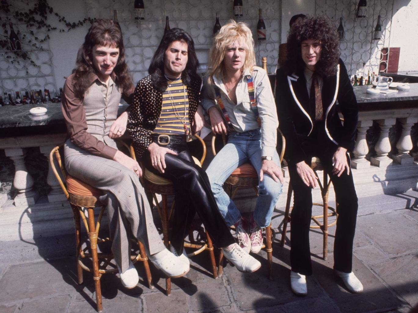 John Deacon, Freddie Mercury, Roger Taylor and Brian May of Queen created the UK's bestselling album of all-time, Greatest Hits