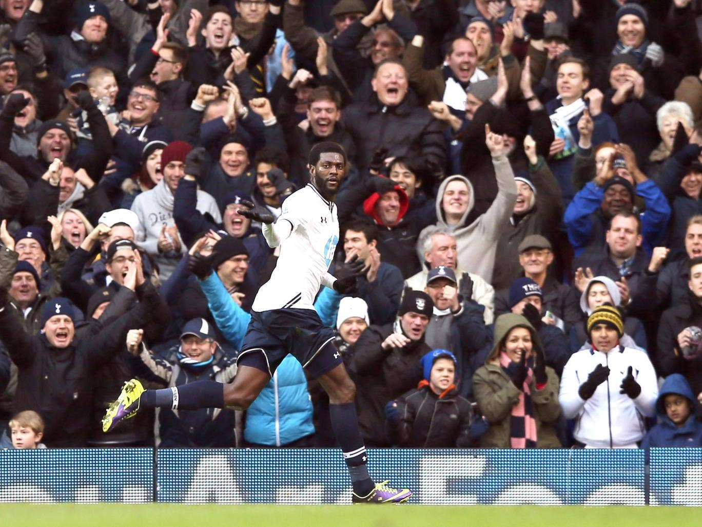 Emmanuel Adebayor has been brought back into the fold at Tottenham Hotspur by the new manager Tim Sherwood – and it is paying off