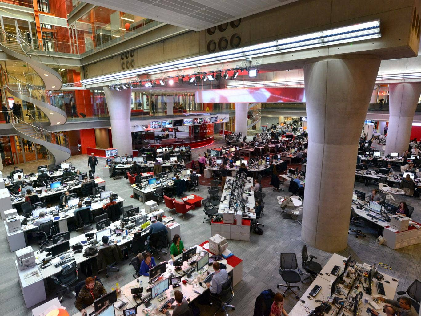 Cultural force: the BBC News room at Broadcasting House, in London, one area of democratising excellence the corporation should continue to focus on, according to Grade