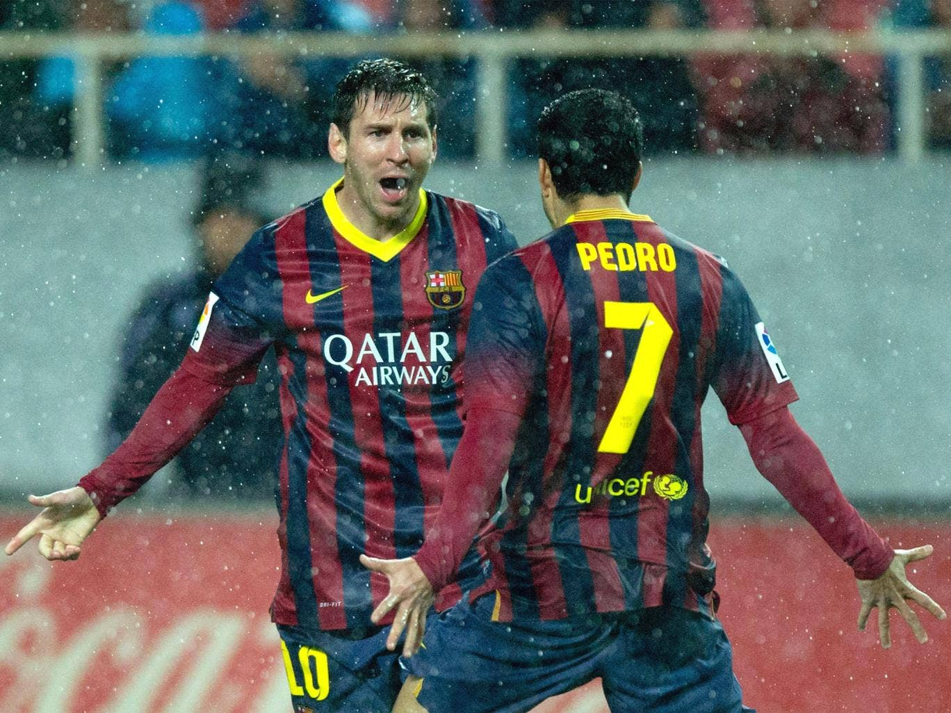 Lionel Messi returned to goalscoring form with two strikes in Barcelona's 4-1 win on Sunday