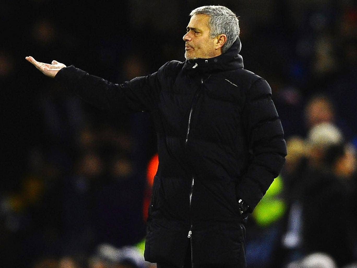Jose Mourinho gestures from the sideline