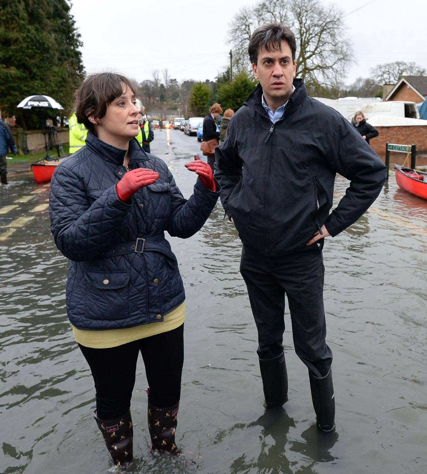 The Labour leader Ed Miliband admitted it was 'a difficult decision for politicians whether to visit areas like this'