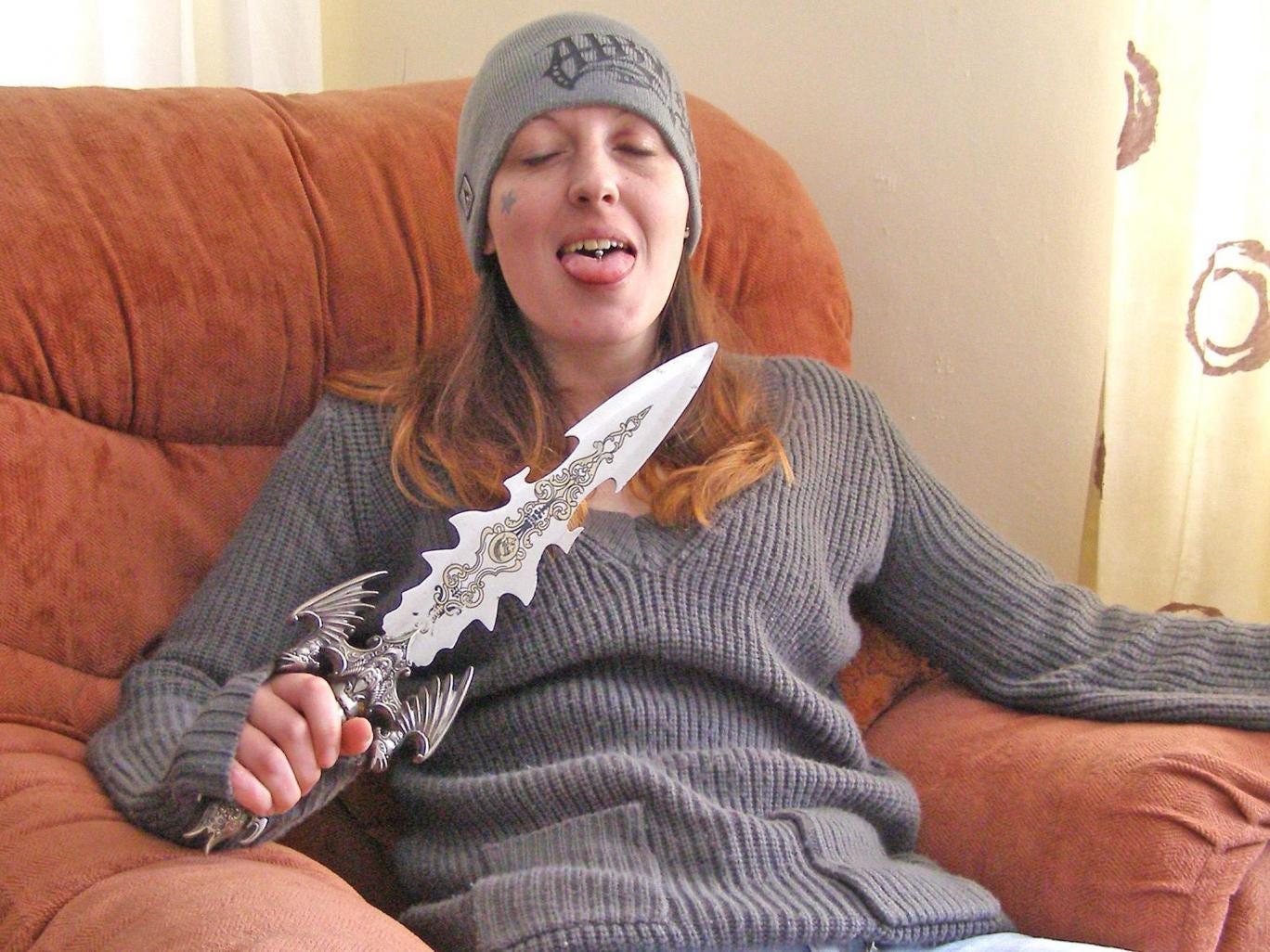 Joanna Dennehy posing shortly after a murder