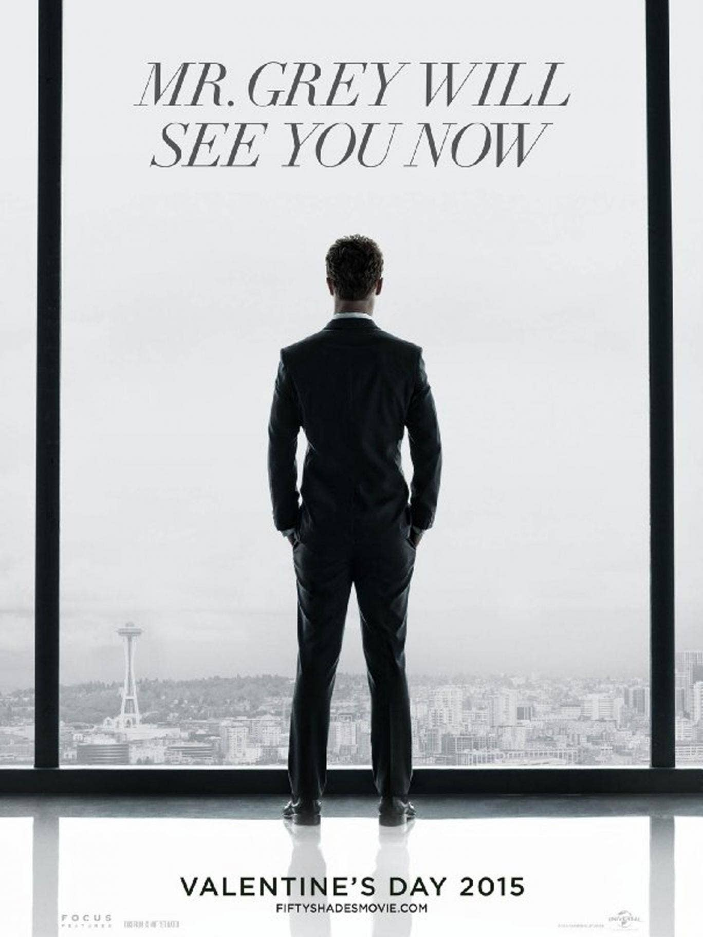 Jamie Dornan as Christian Grey in the Fifty Shades of Grey poster