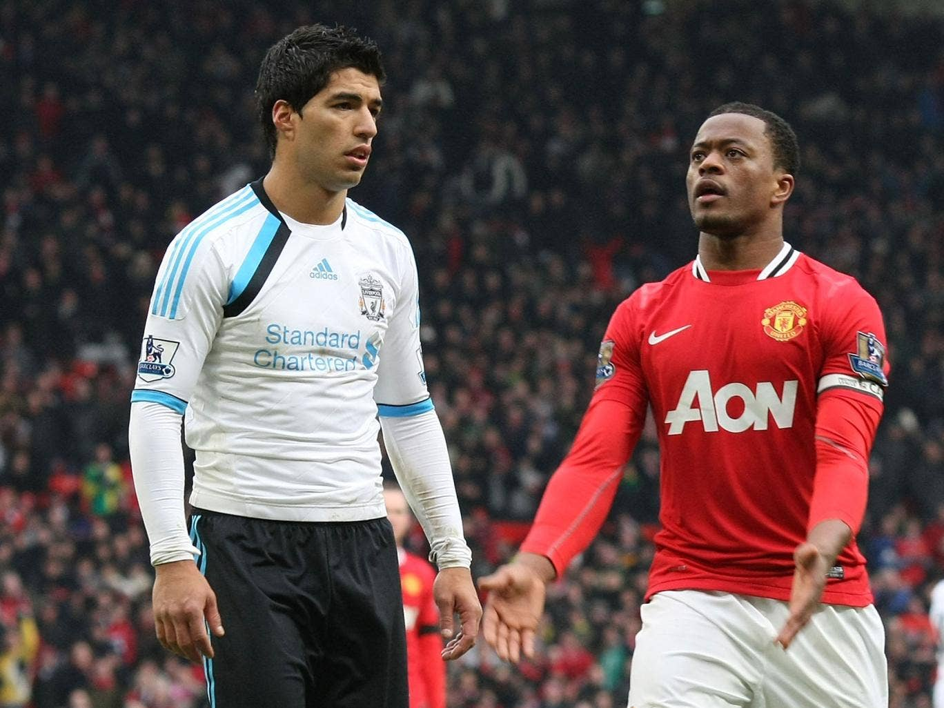 Luis Suarez has claimed that the racism allegations Patrice Evra made against him in 2011 were 'all false'