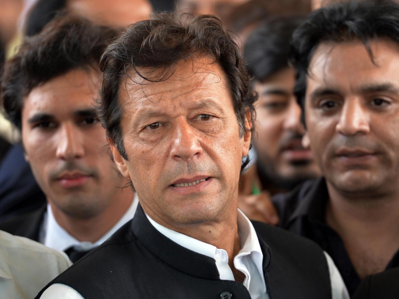 Former cricket legend and opposition leader Imran Khan