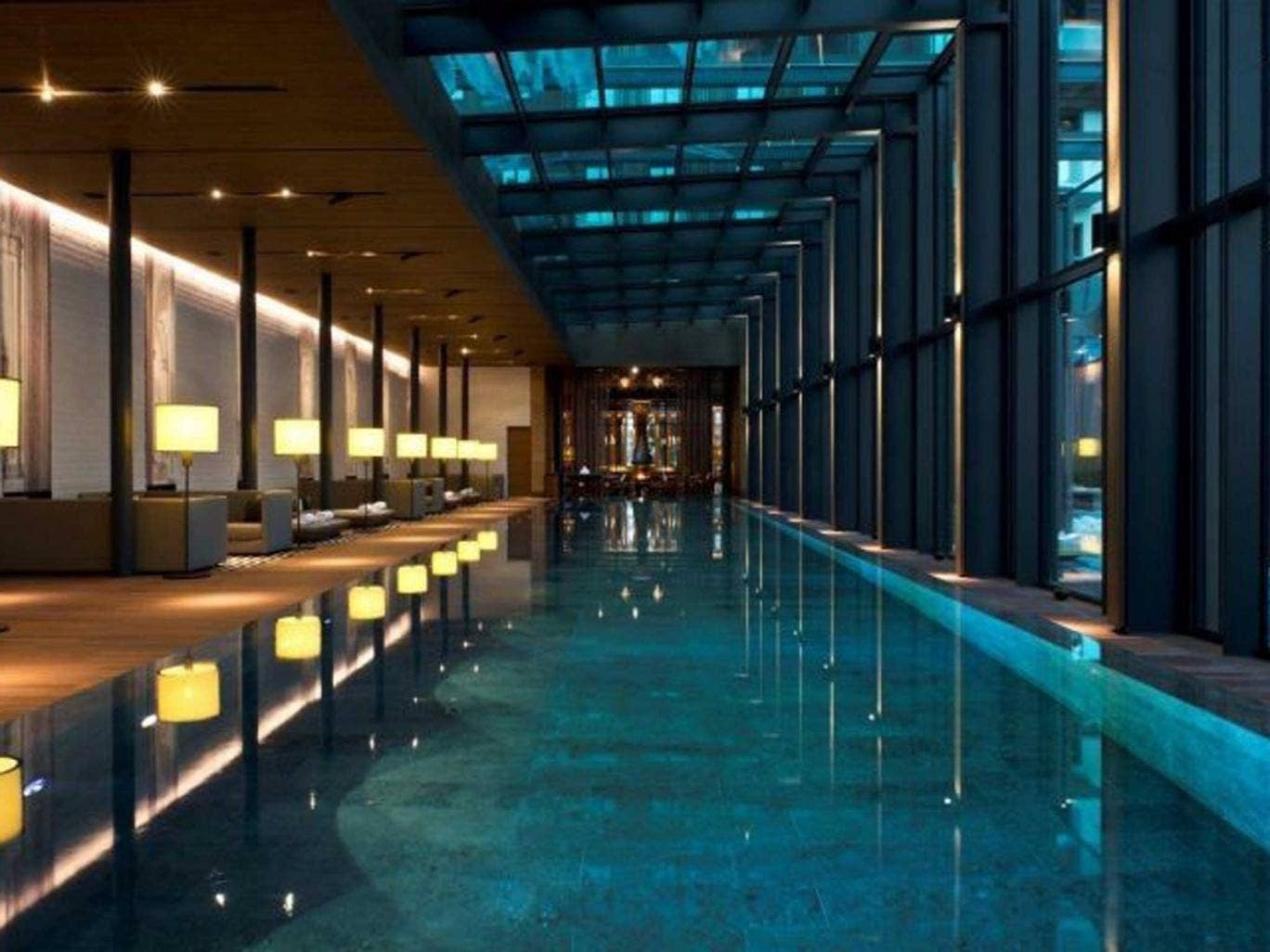 The swimming pool at the Chedi
