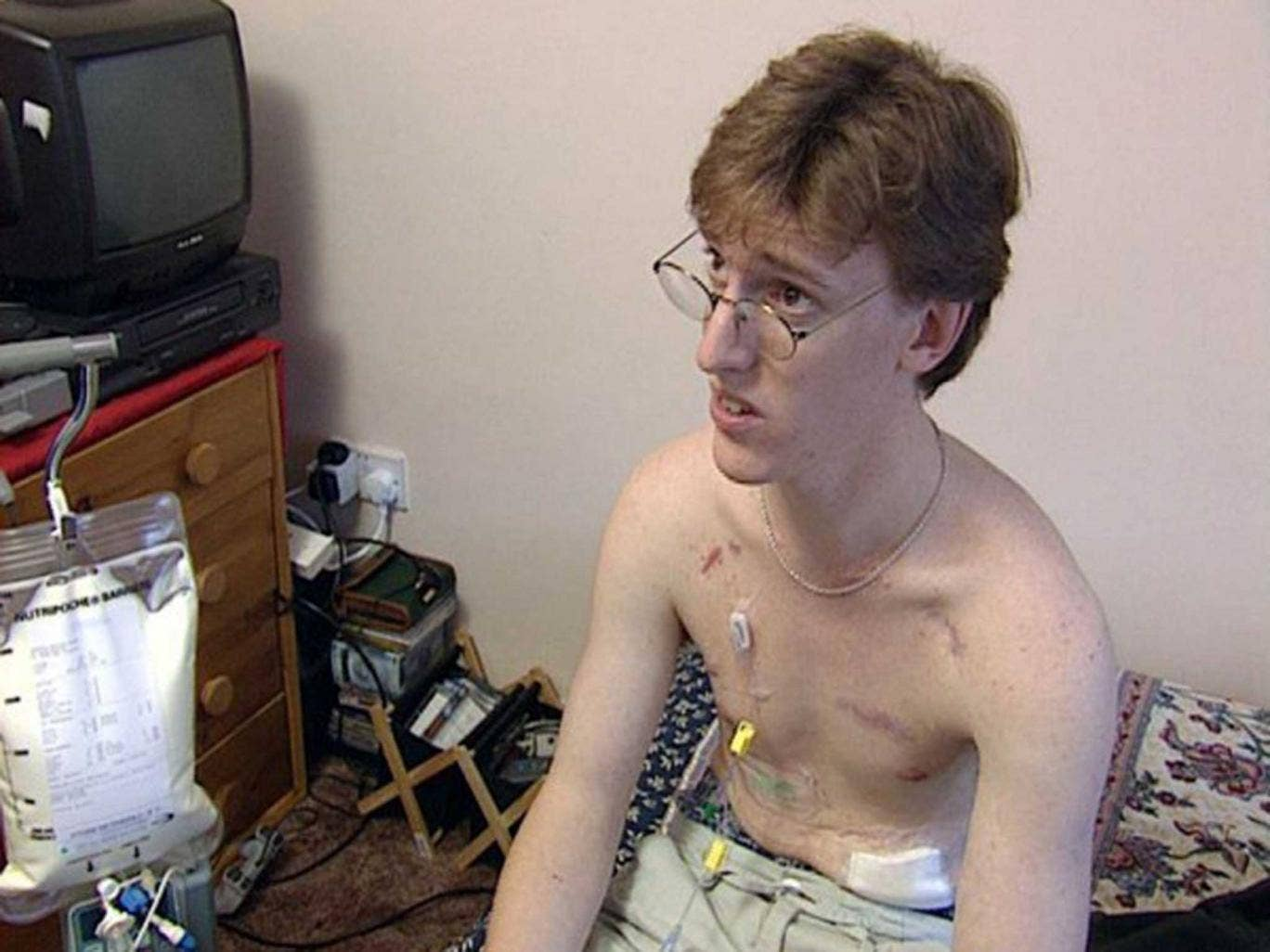 Determined: Danny Bond, seen here in 2001, eventually decided to starve himself to death
