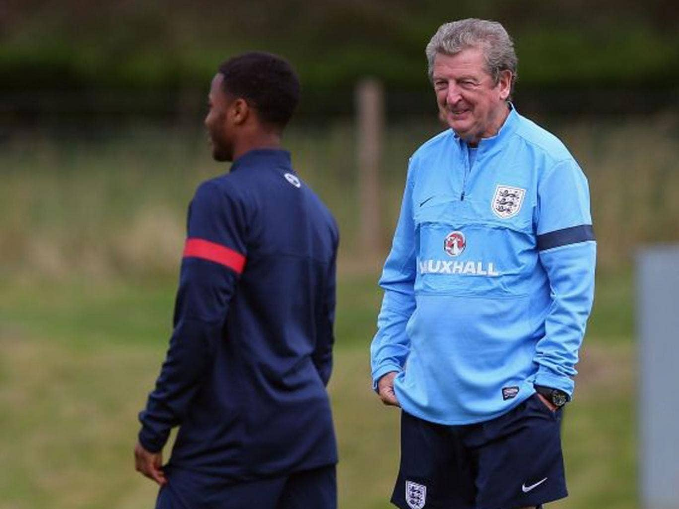 Coming up smiling: Roy Hodgson is happy with Raheem Sterling's revival