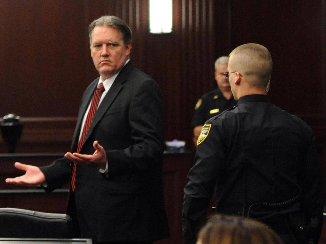 Michael Dunn reacts to the verdict in his trial for the murder of Jordan Davis
