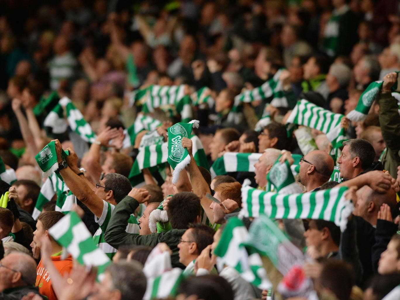 The song entered the charts after a campaign by Celtic fans