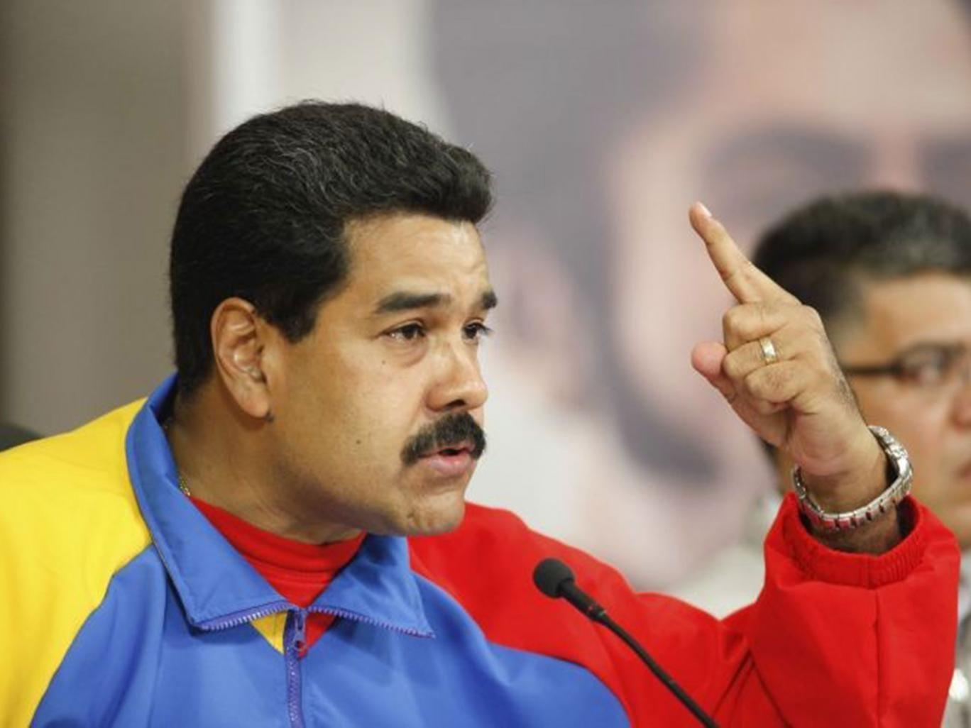 The Venezuelan president Nicolas Maduro