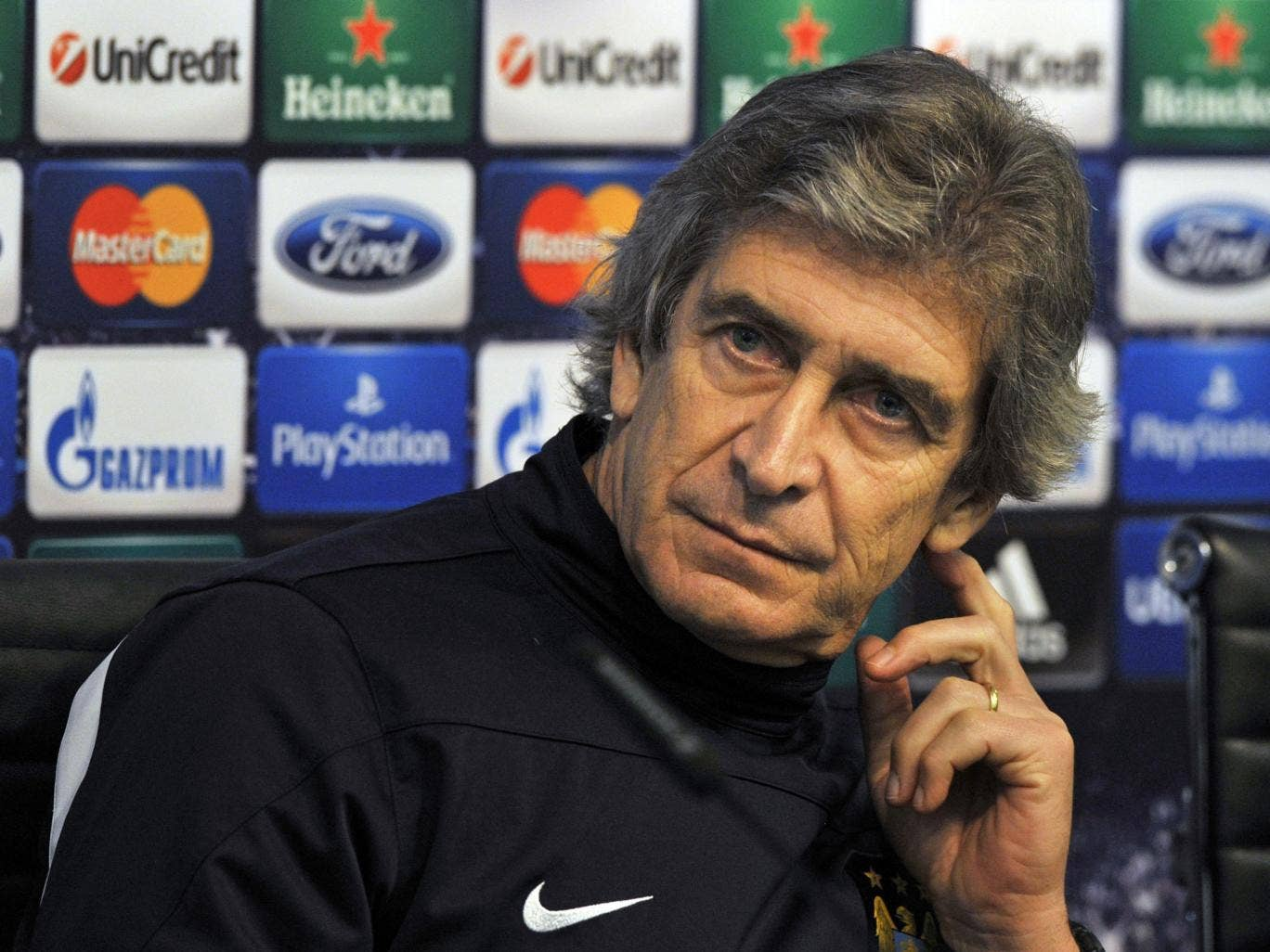 Manuel Pellegrini has claimed that this season there is only one team in Manchester ahead of his side's Champions League clash with Barcelona