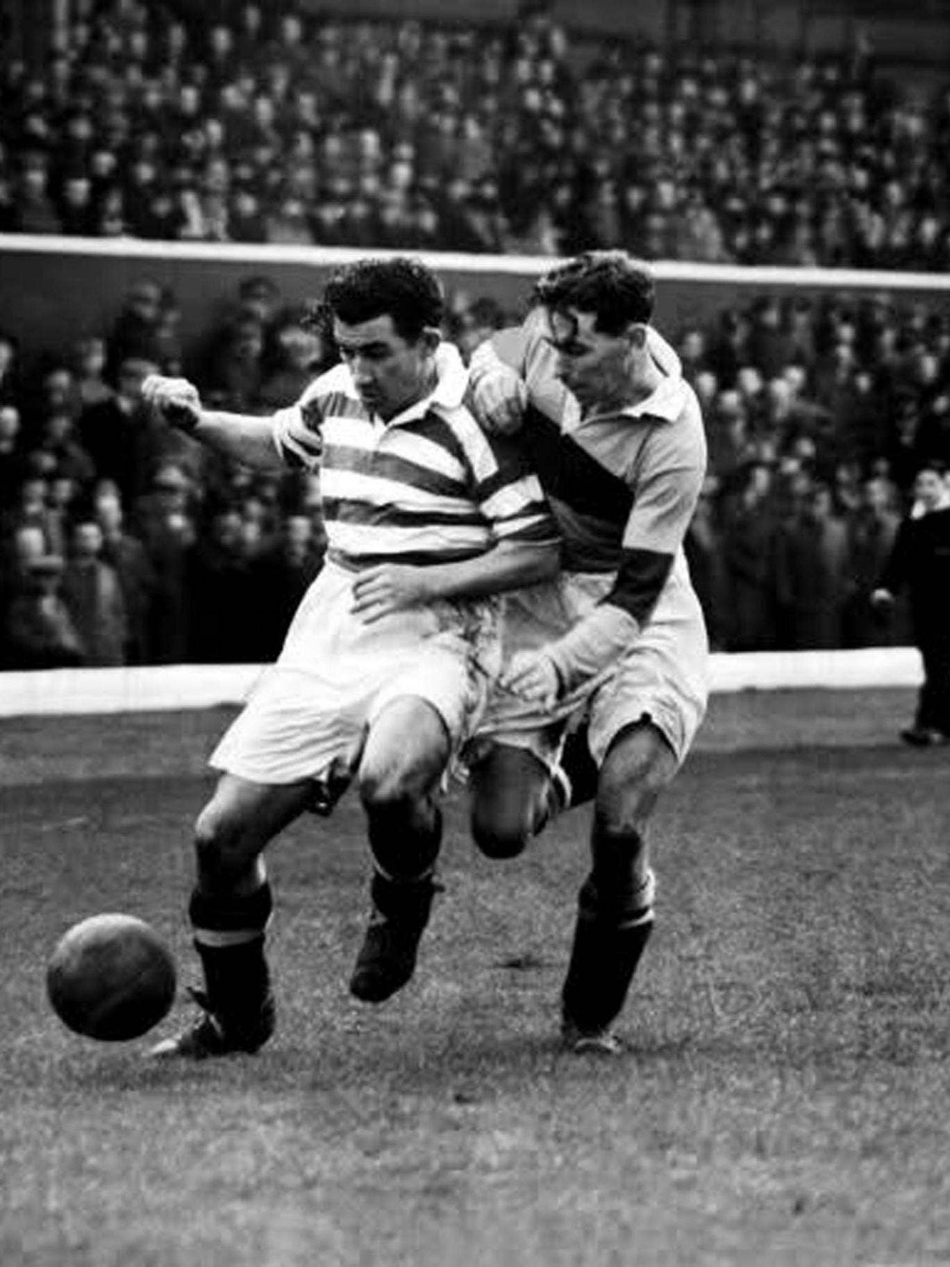 Andy Paton (right), whose father and three uncles had been professional footballers, was combative in the air and a fearless tackler