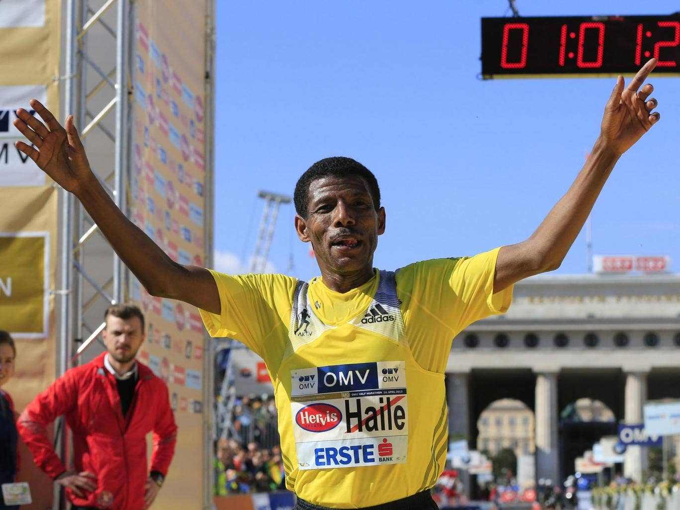 Haile Gebrselassie will set the pace at the London Marathon