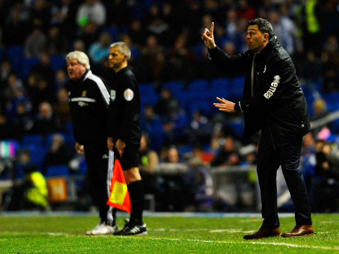 Steve Bruce (L) and Oscar Garcia (R) have hit out at a Uefa regulation that means their sides will play two matches in two days