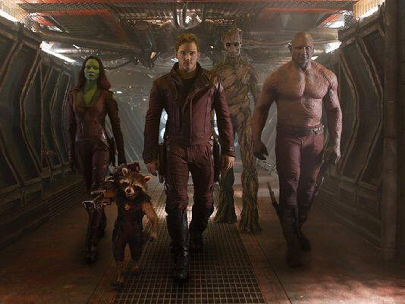 Chris Pratt stars in Guardians of the Galaxy
