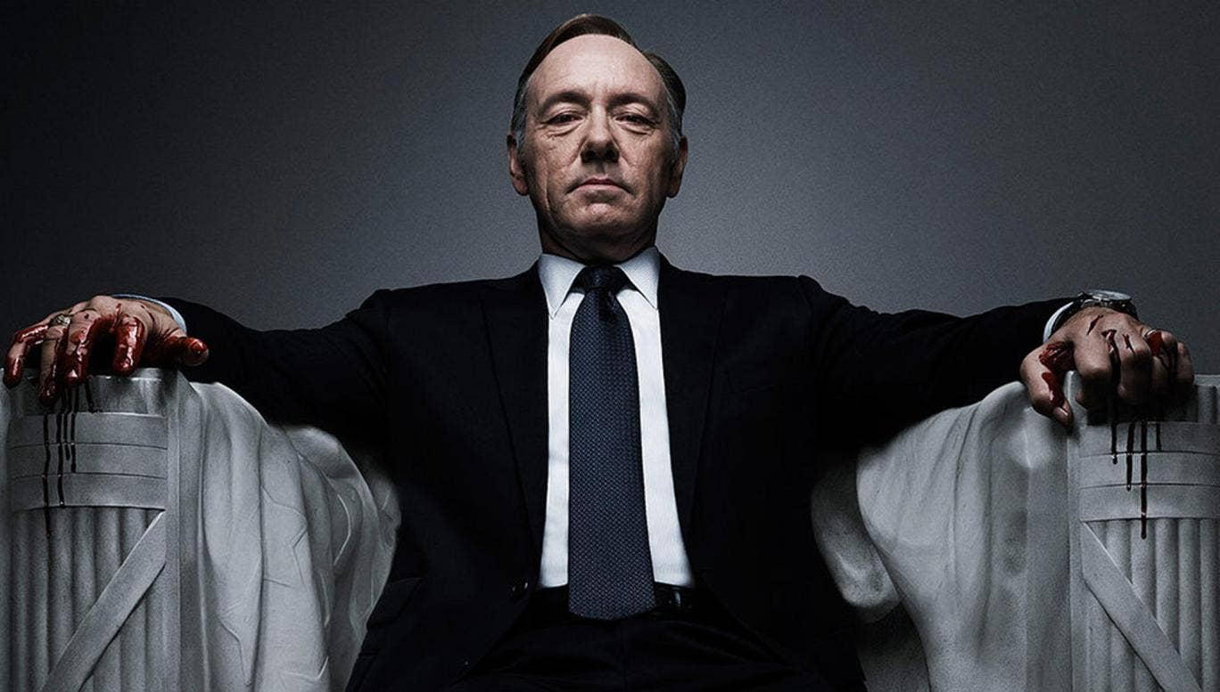 Kevin Spacey as Washington politician Frank Underwood in Netflix's House of Cards