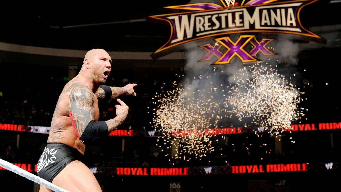 Batista will be at Wrestlemania - will you be tuning in?