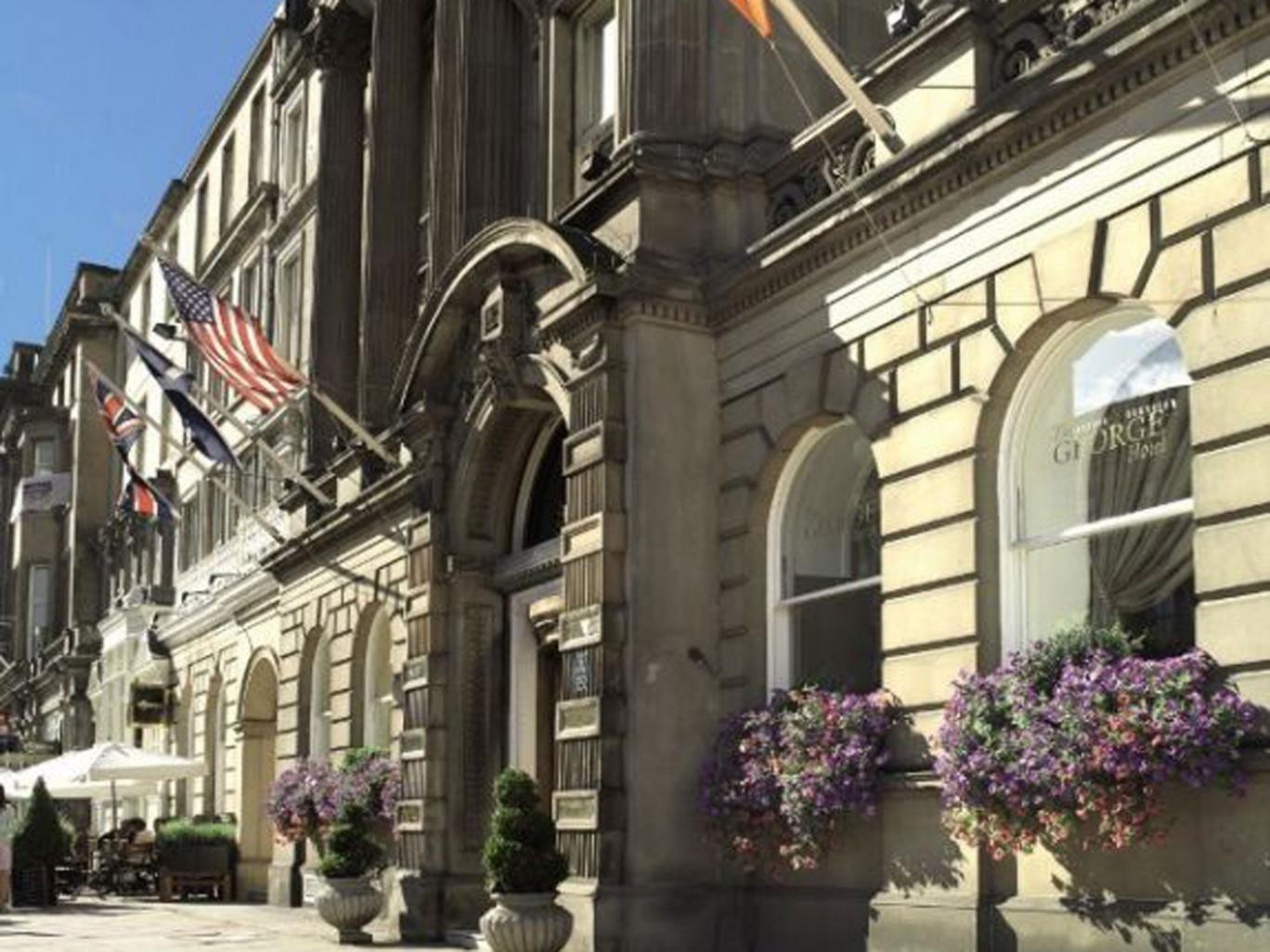 Caledonian sleeper: the George Hotel in Edinburgh