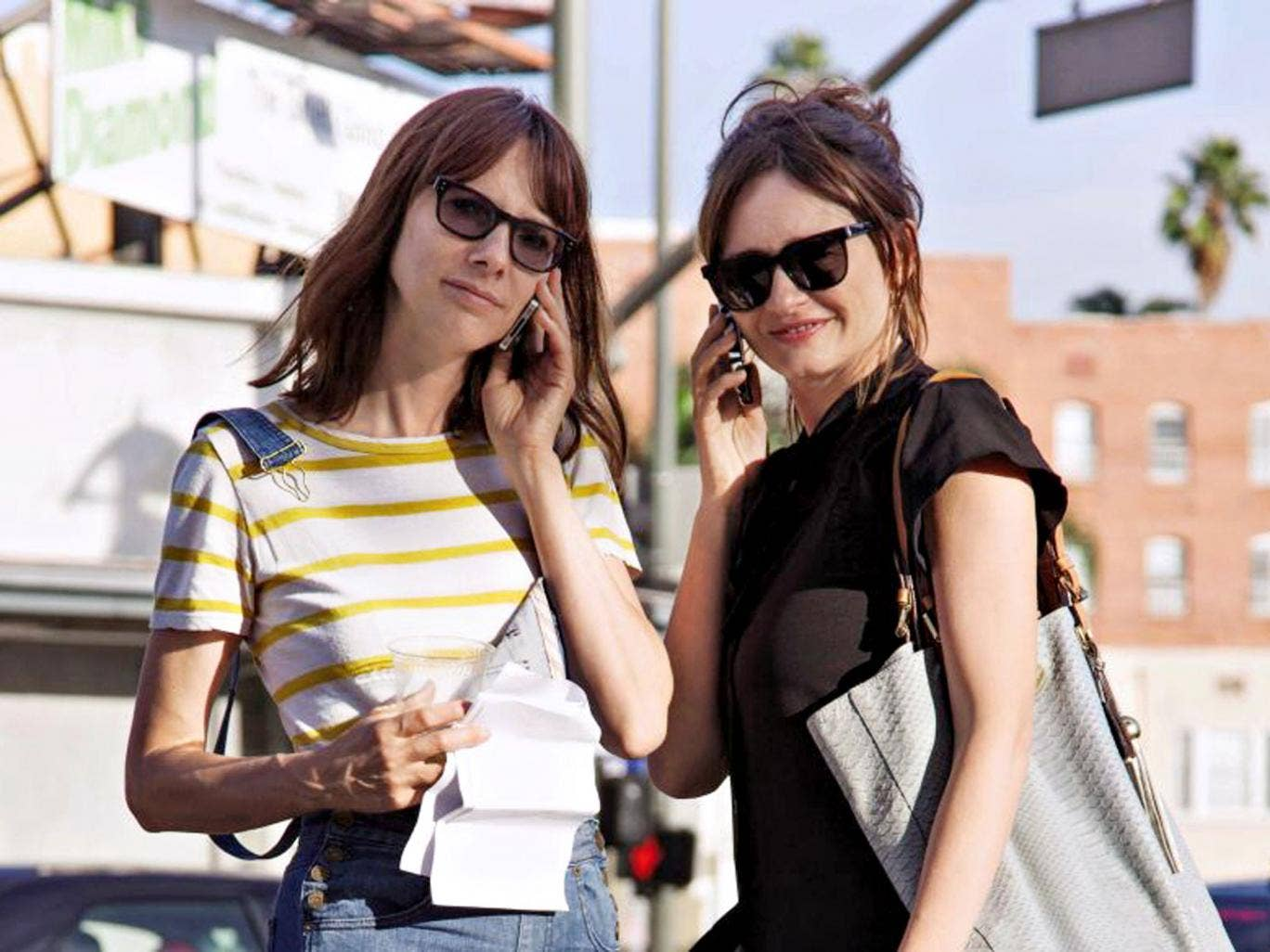 Cell mates: Dolly Wells and Emily Mortimer in 'Doll & Em'