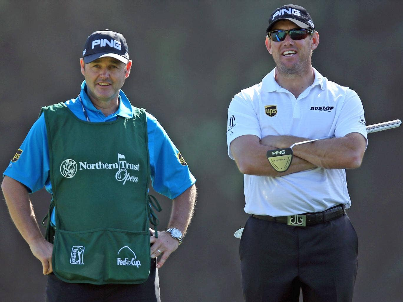 Lee Westwood (right) had Billy Foster caddying for him when he became world No 1 in 2010