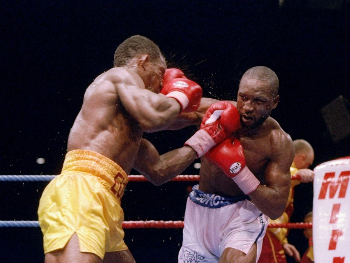 Nigel Benn (left) and Chris Eubank fought a grudge match in 1993