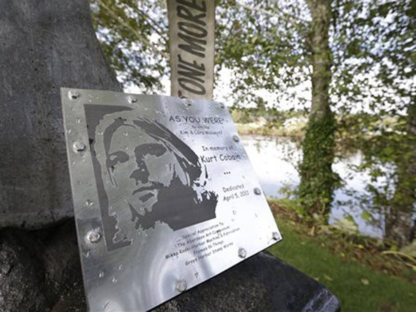Hometown blues: Kurt Cobain Landing, a tiny park in Aberdeen near the childhood home of the Nirvana icon