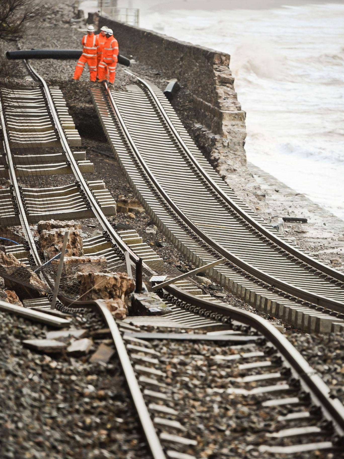 The railway line in Dawlish, Devon, will not be repaired until mid-April