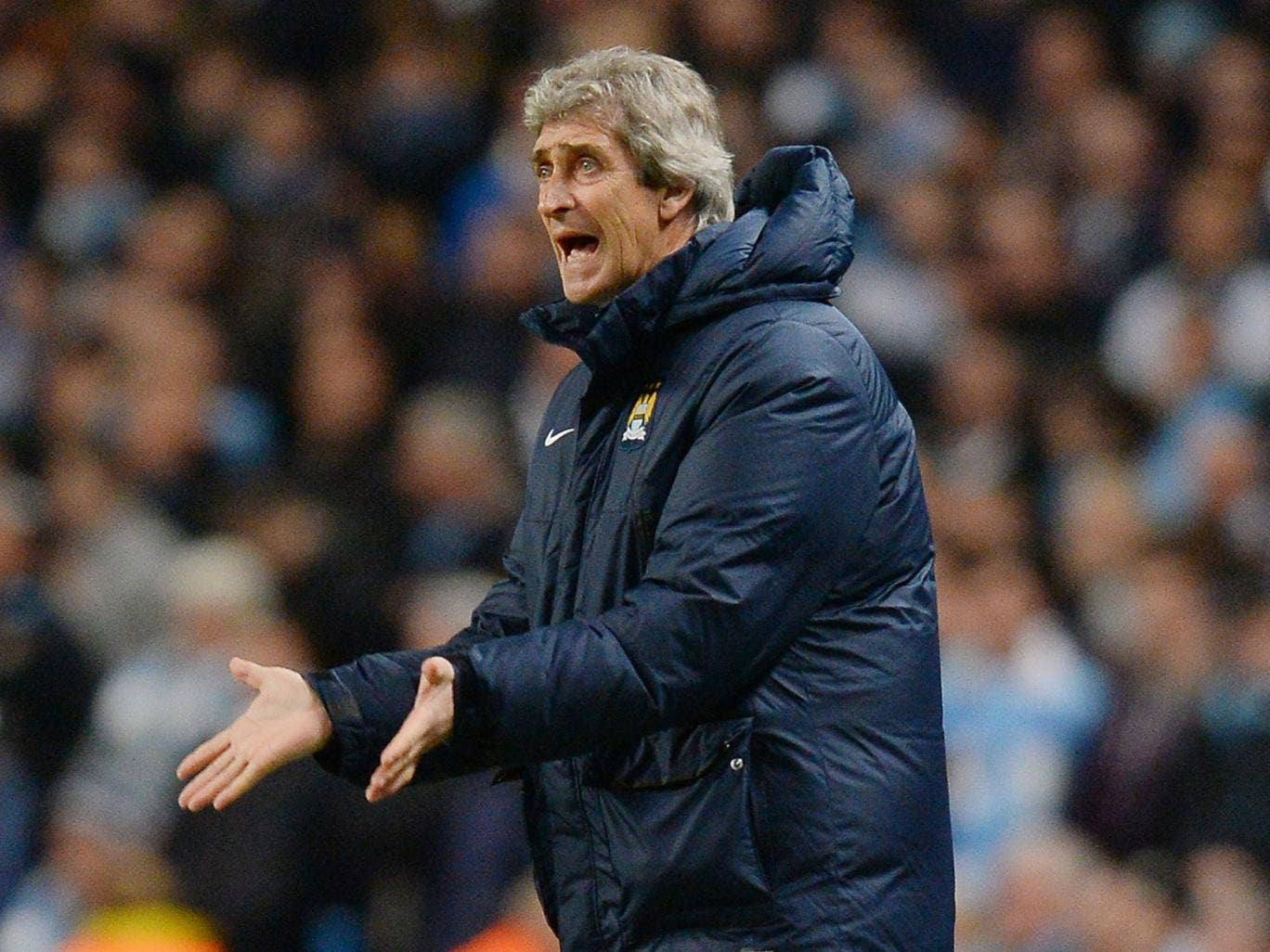 Manuel Pellegrini is showing the pressure and the effects of an ill thought out conspiracy theory