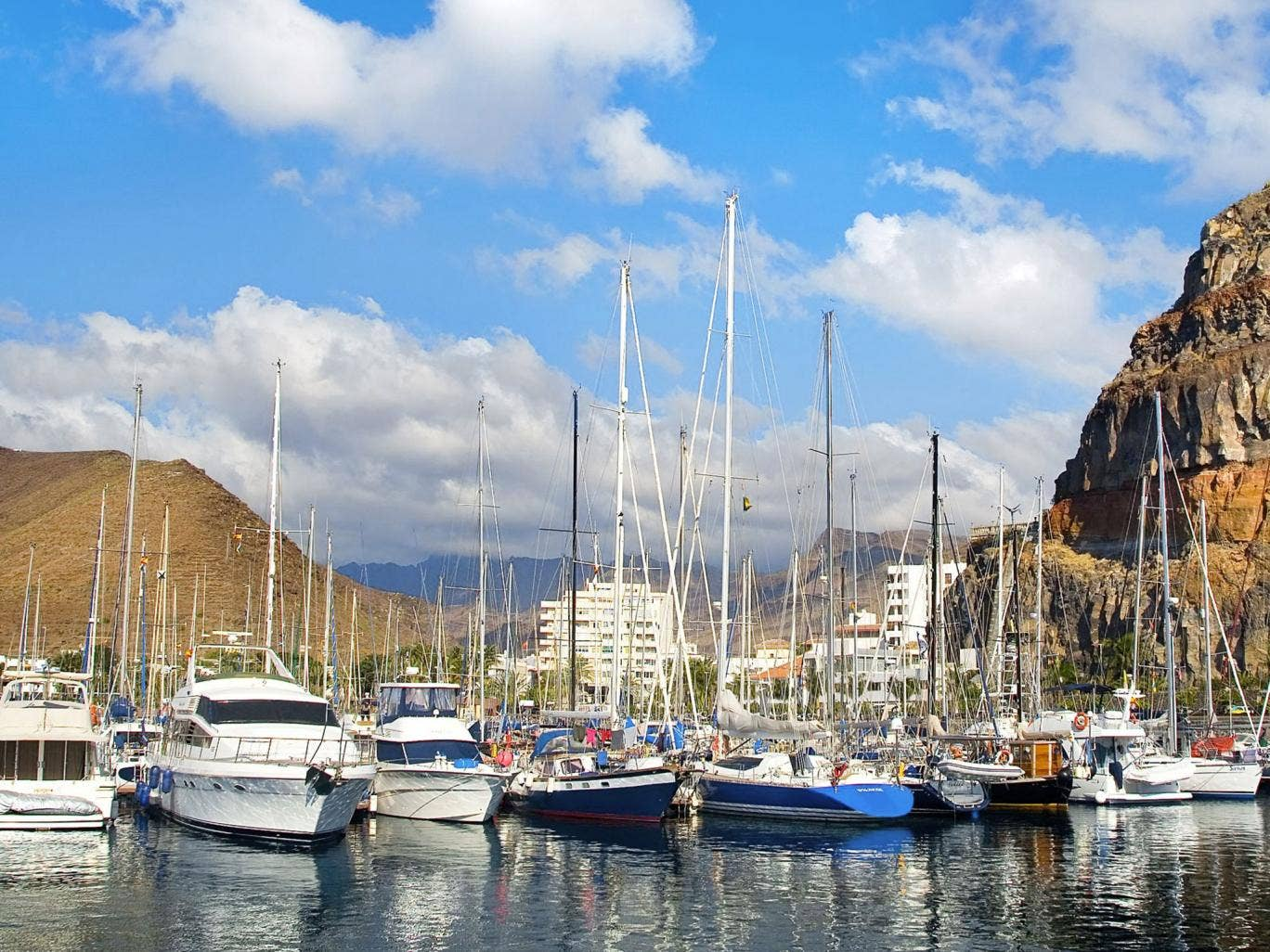 Ship shape: boats moored off La Gomera where Ron Howard's latest film, 'In the Heart of the Sea', was filmed