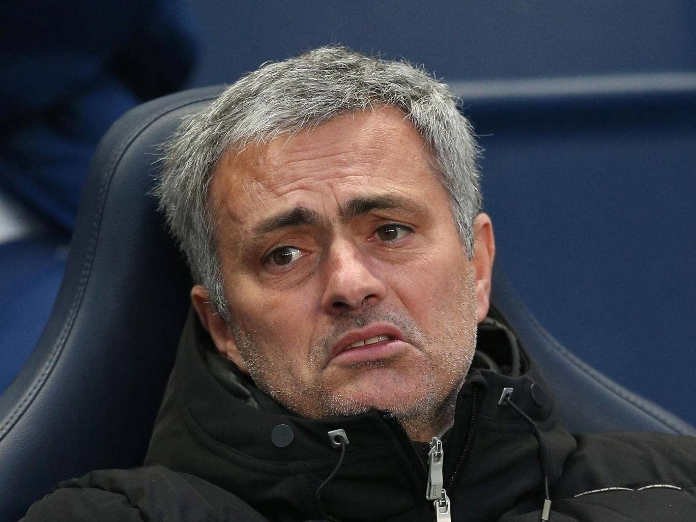 The Chelsea manager Jose Mourinho was barely willing to talk about anything outside of Stamford Bridge yesterday