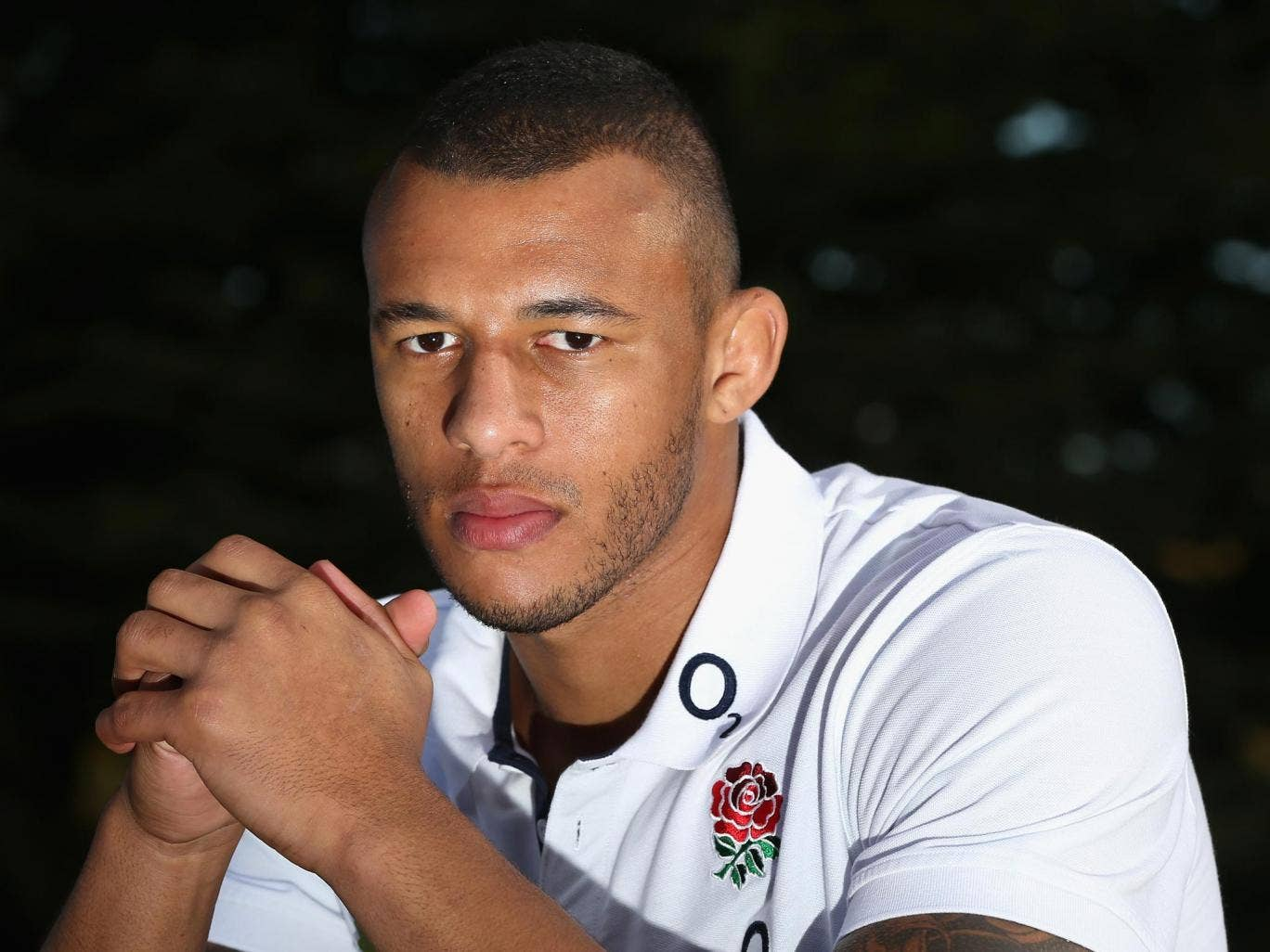 Courtney Lawes looks every inch the part in an England shirt