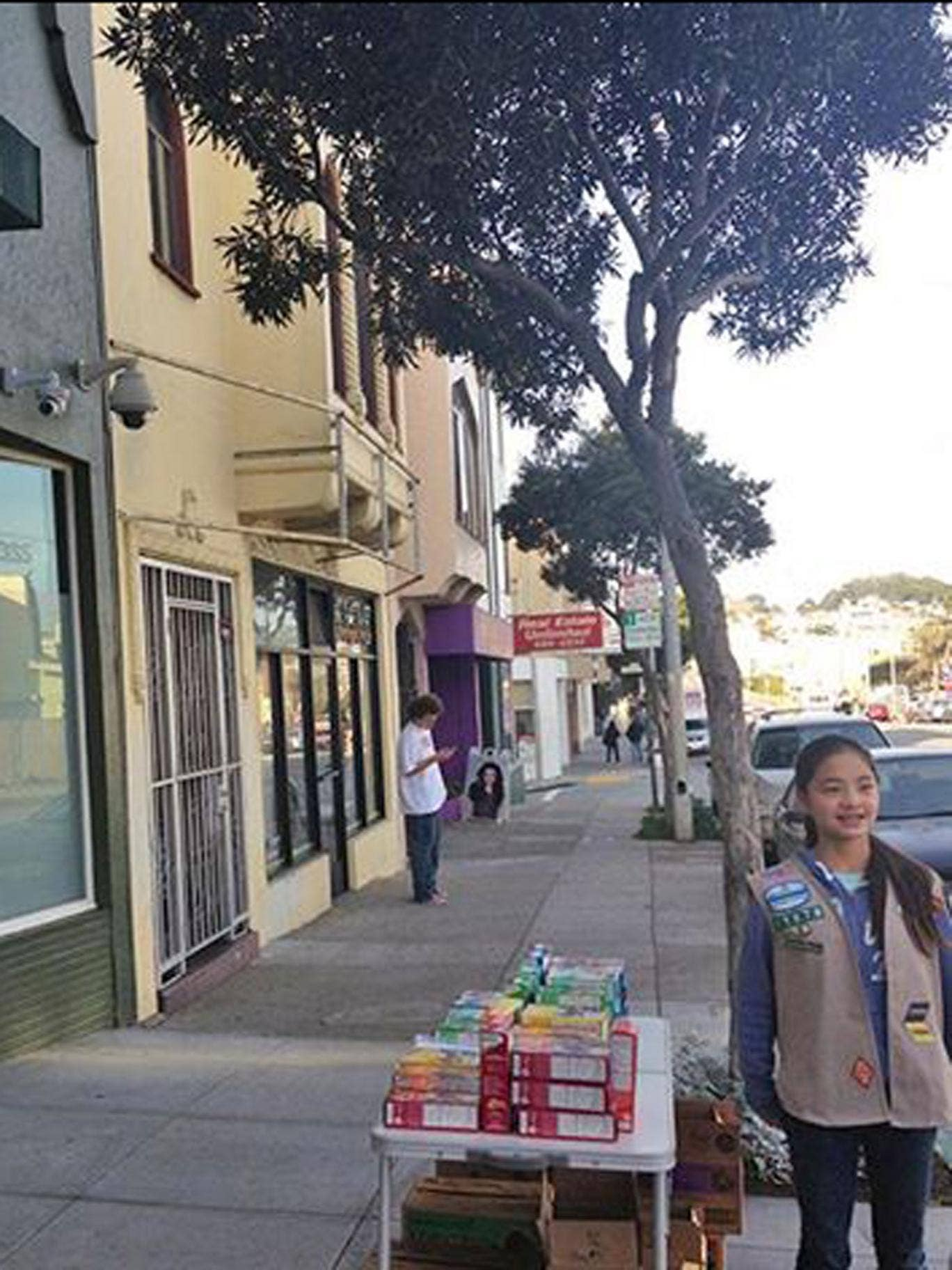 Danielle's choice of location was approved by the Girl Scouts of Northern California, who said it was not up to them to decide where the cookies could be sold