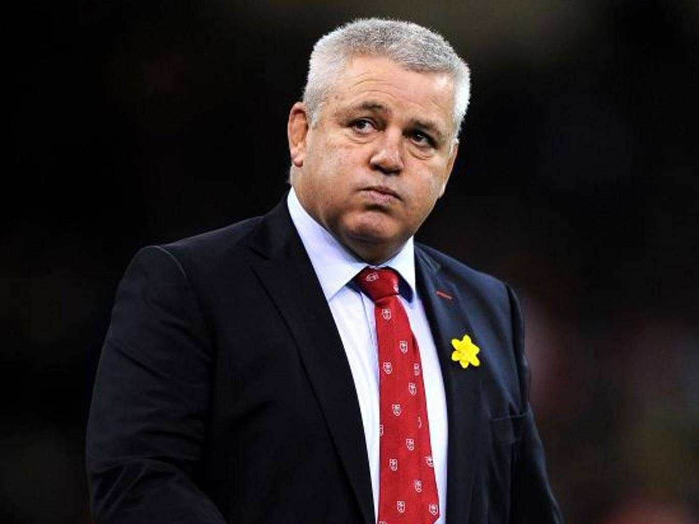 Warren peace: Gatland decided not to drop players after the loss to Ireland