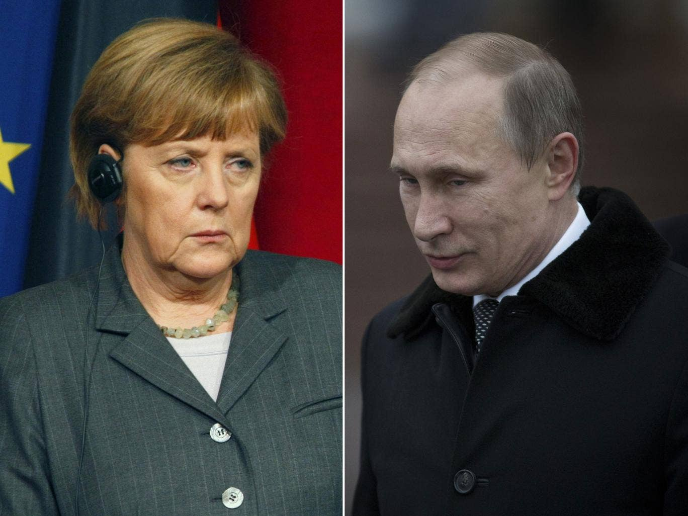 Angela Merkel's spokesperson says the German Chancellor and President Vladimir Putin agreed Ukraine's 'territorial integrity' must be maintained