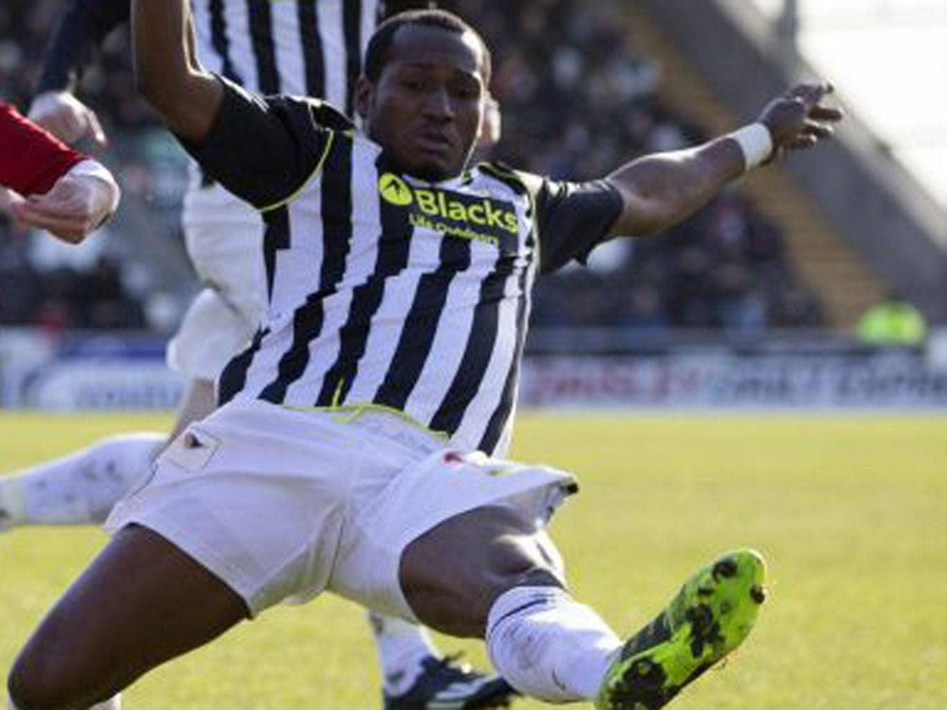 Eric Djemba-Djemba was in action for St Mirren