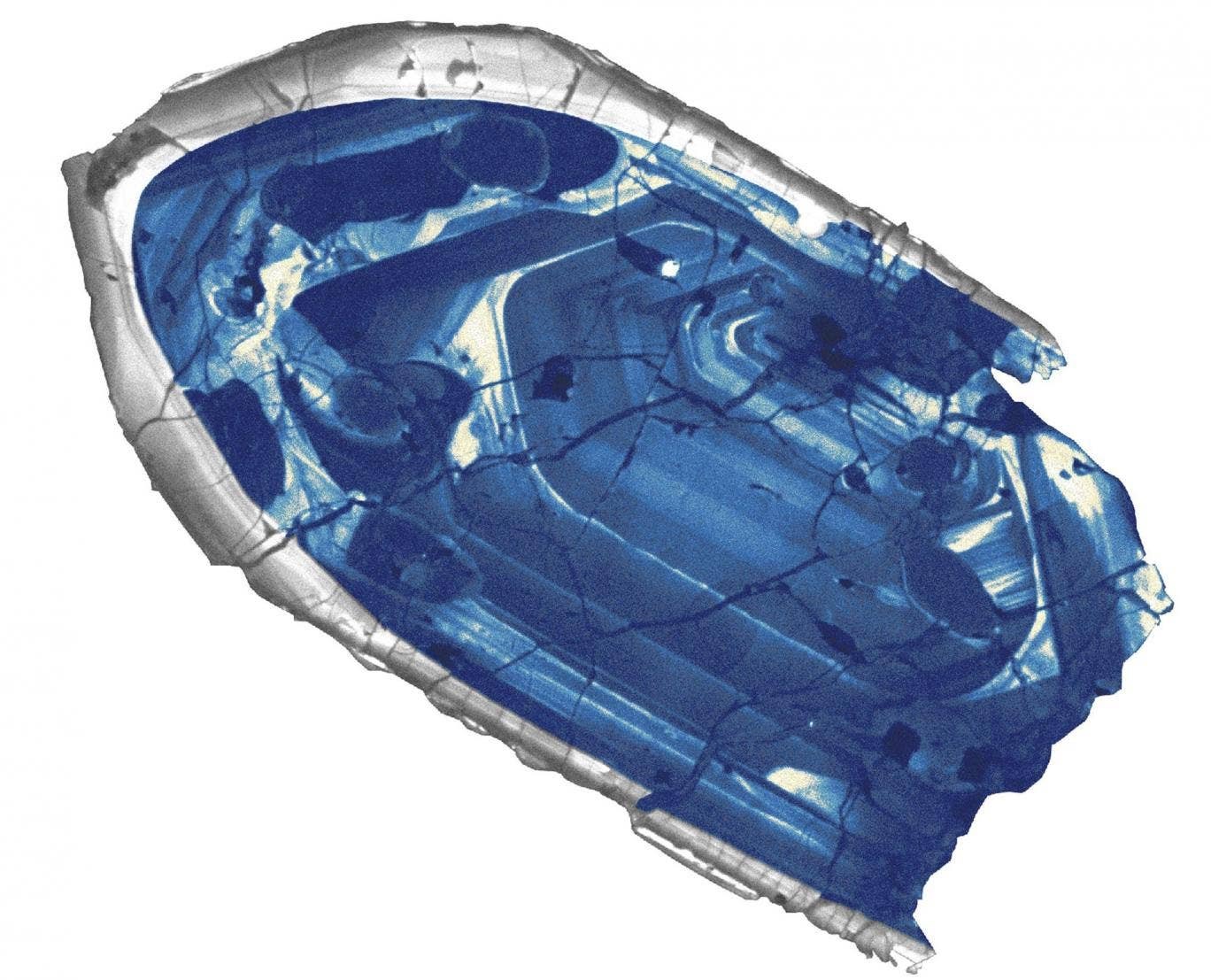 This zircon crystal from a sheep ranch in Australia has been found to be 4.4 billion years old - the oldest piece of the Earth's crust ever discovered