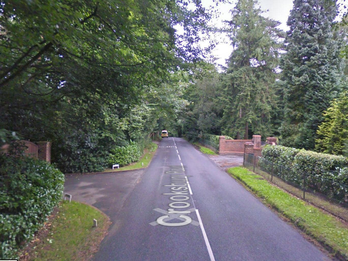 Police were called to an address off Crooksbury Road in the village of Farnham