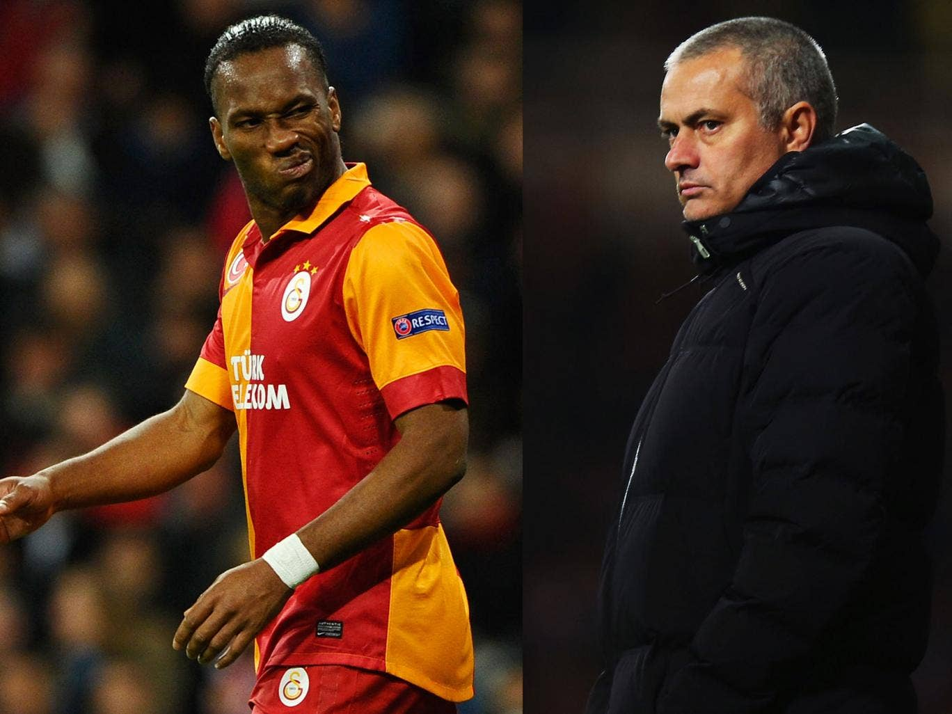 Didier Drogba will face his former manager Jose Mourinho when Galatasaray take on Chelsea in the Champions League last-16