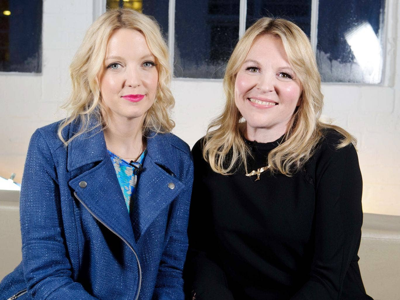 TV presenter Lauren Laverne with stylist Wendy Elsmore at London Fashion Weekend