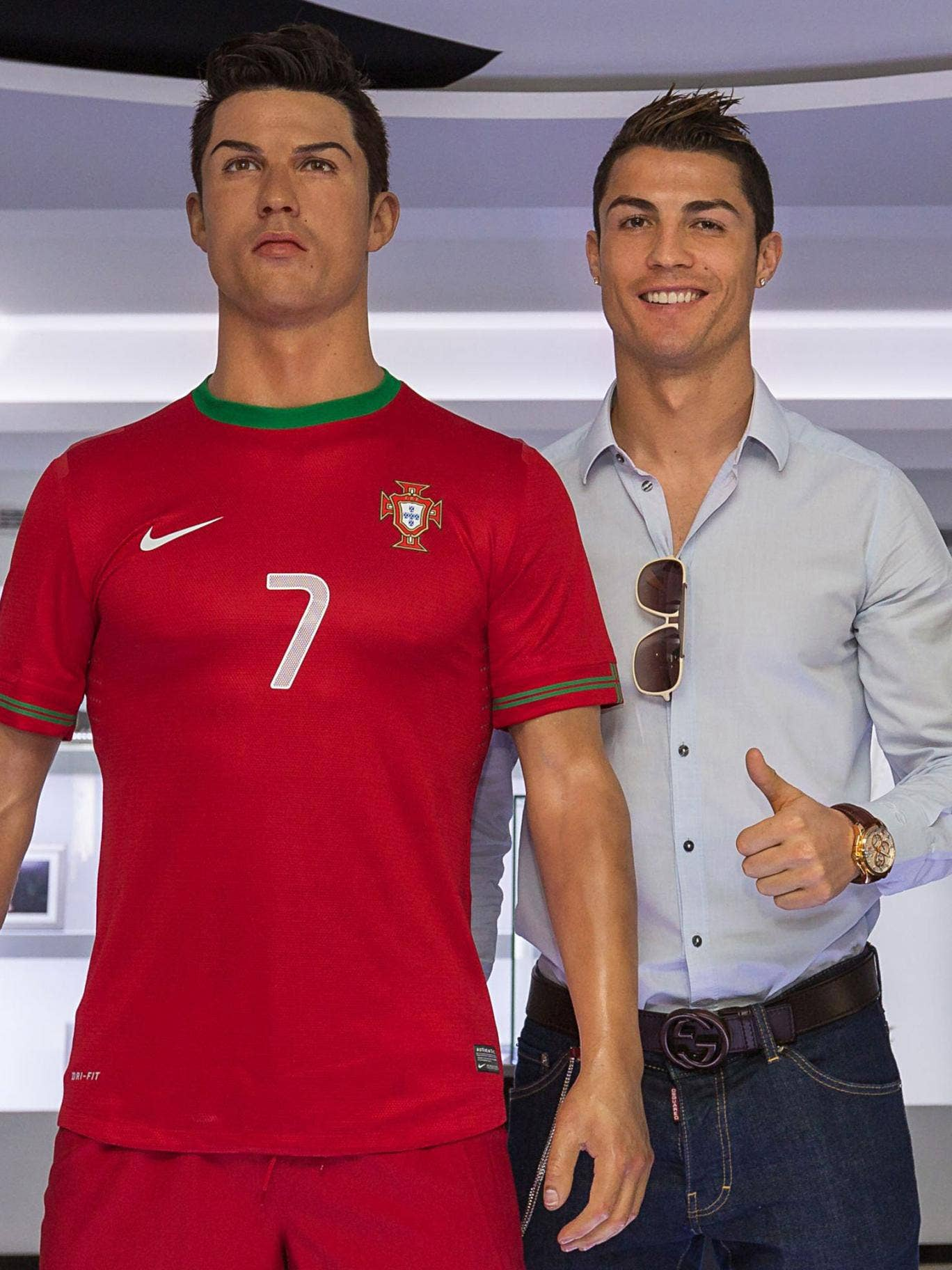 Kick starter: Cristiano Ronaldo and his waxwork