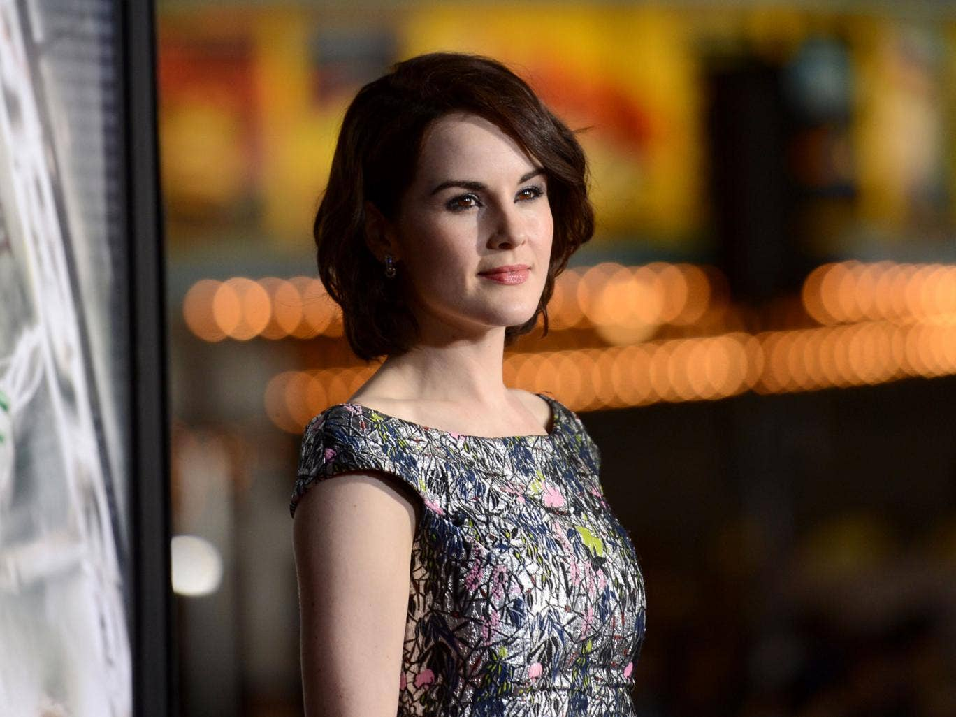 Michelle Dockery at the LA premiere for Non-Stop, in which she plays gutsy air hostess Nancy alongside Liam Neeson