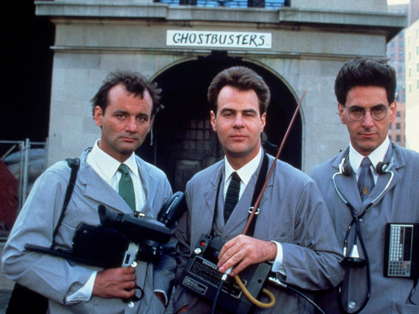 Bill Murray, Dan Aykroyd and Harold Ramis in 1984's Ghostbusters