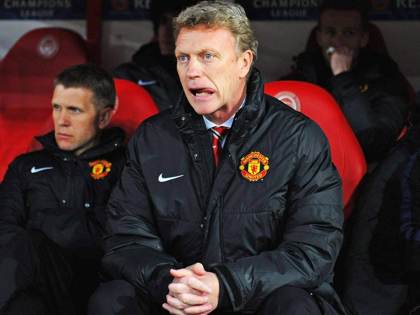 In the hot seat: David Moyes still has the confidence of the Manchester United hierarchy
