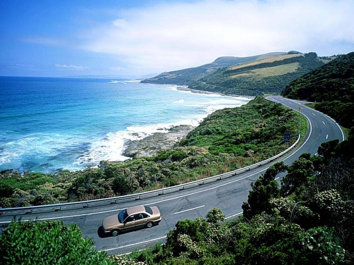 Wave hello: the Great Ocean Road was a highlight in Australia