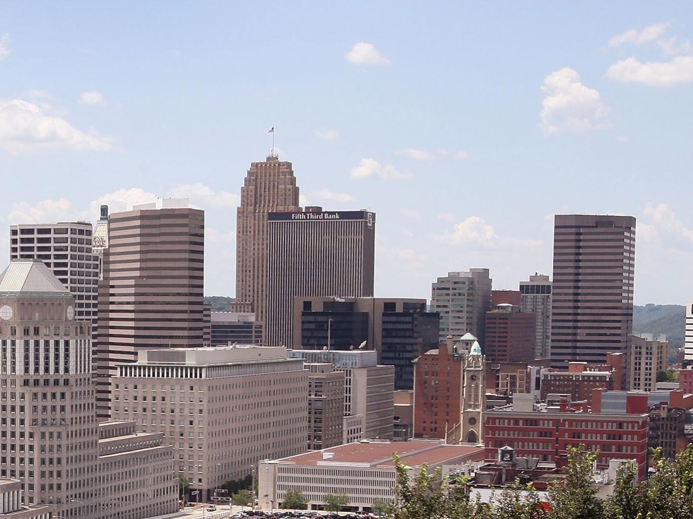 The skyline of Cincinnati, where the shooting took place
