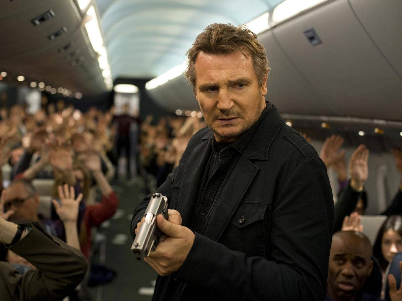 Stick-up in the air: Liam Neeson in the action thriller 'Non-Stop'
